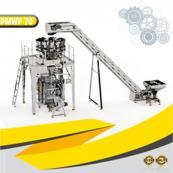 مكنة تعبئة وتغليف وزنية 14 وحدة وزن  70مغلف بالدقيقة